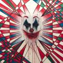 """"""" In the Mind of Joker """" - Acrilico su Tela 90x65<br />Marussa Giovinazzo"""
